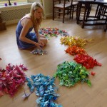 Behind the scenes: origami crane project (and get a crane yourself!)