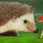 [1/7] Hedgehog painting