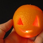 Halloween orange light DIY