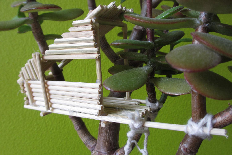 Miniature Tree House miniature tree house in potted plant - magical daydream