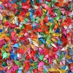 1000 origami cranes for 1000 strangers