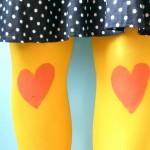 DIY: Heart knee legging