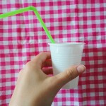 Plastic cup flower DIY