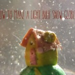 How to make a light bulb snow globe
