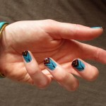 My bangles match my nails… sort of