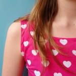 Handmade pink and white hearts dress