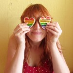 Rainbow heart cookies DIY