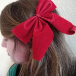 Past project: red hair bow