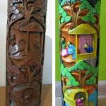 Wooden vase make-over
