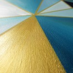 Turquoise, gold & triangles: a new artwork!