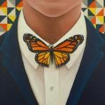 Butterfly tie (vlinderdas) painting