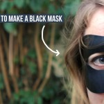 How to make a black leather spy mask