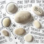 Give children a sense of discovery: create stone treasures