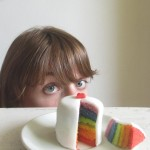 How to make a layered rainbow mini cake or rainbow cake on a stick