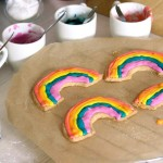 How to make rainbow cookies with rainbow coloured icing