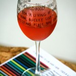 How to make a conversation starter wine glass