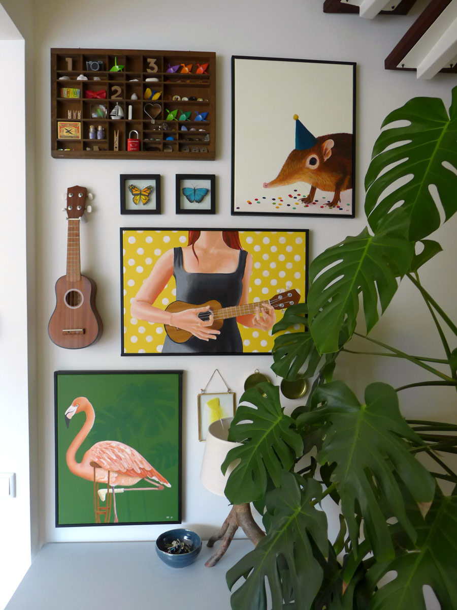 Whimsical Art Gallery Wall