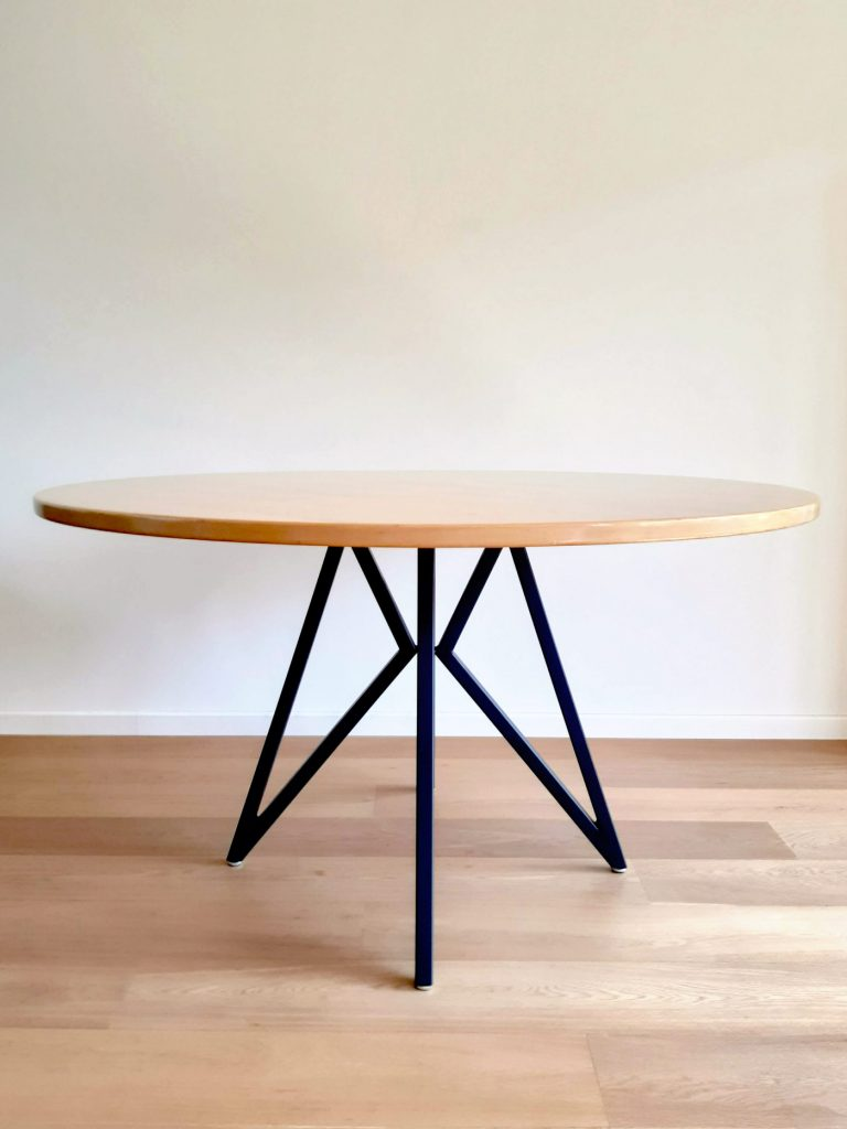 geometric dining table legs